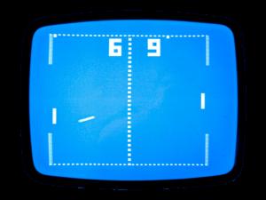 Pong... o clássico início dos jogos eletrônicos