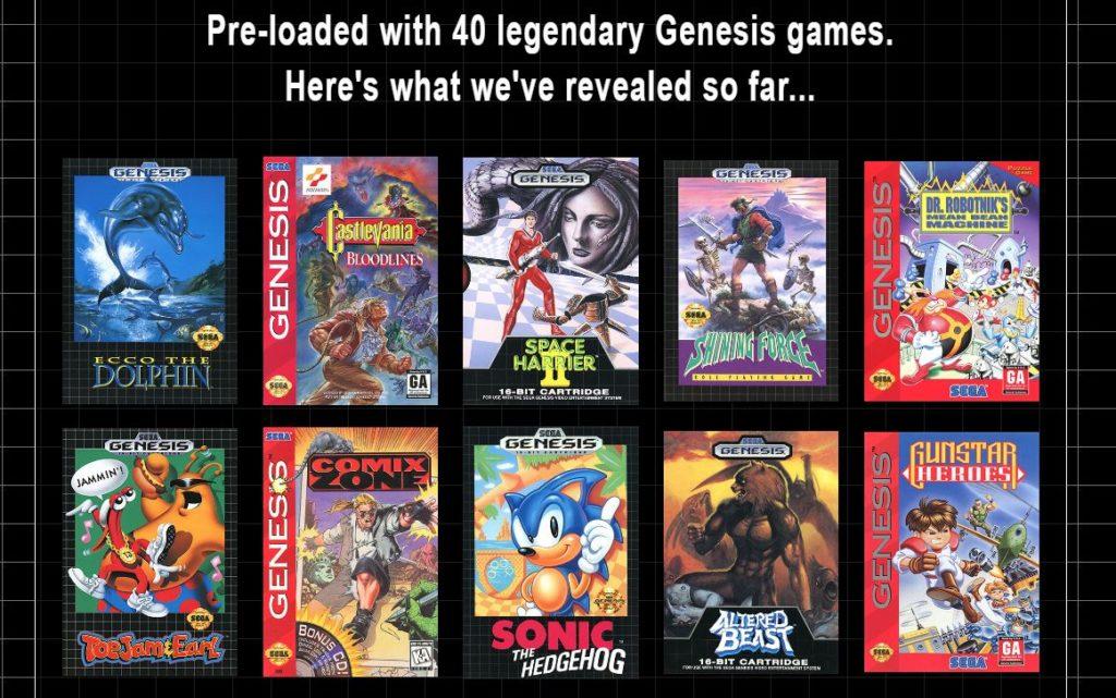 O Sega Genesis Mini virá com 40 jogos... mas apenas 10 títulos foram divulgados até o momento