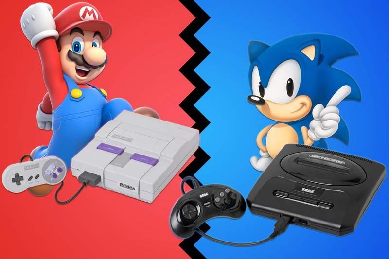 Um duelo de gigantes na década de 90... Nintendo vs Sega