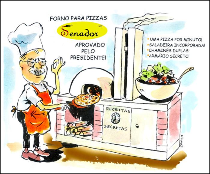 Denúncias contra José Sarney acabaram em Pizza no Senado Federal lá em 2009