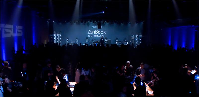 A ASUS apostou em um grande evento para apresentar o ZenBook ao mercado brasileiro