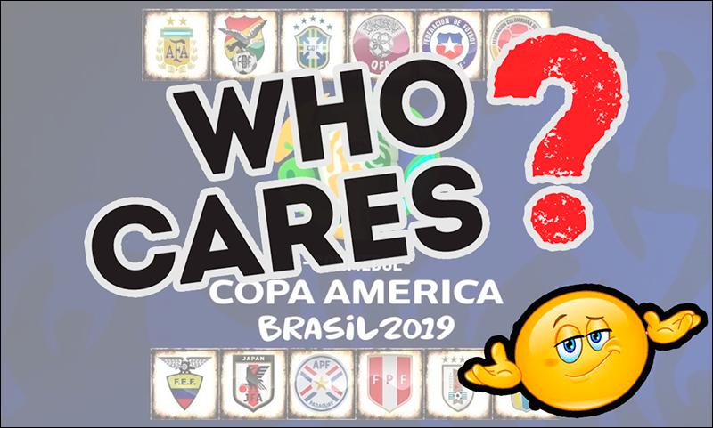 Quem se importa com a Copa América?