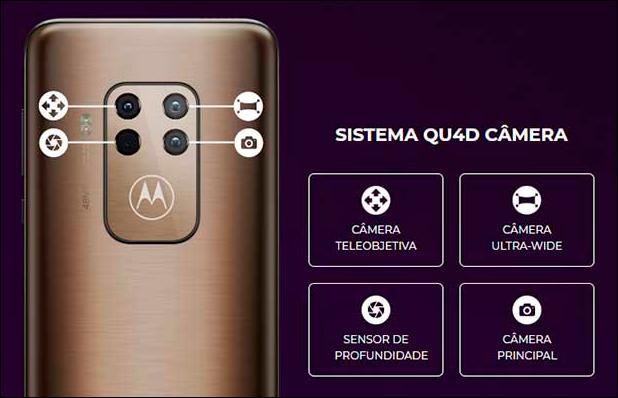 Os sensores da câmera traseira do Motorola One Zoom