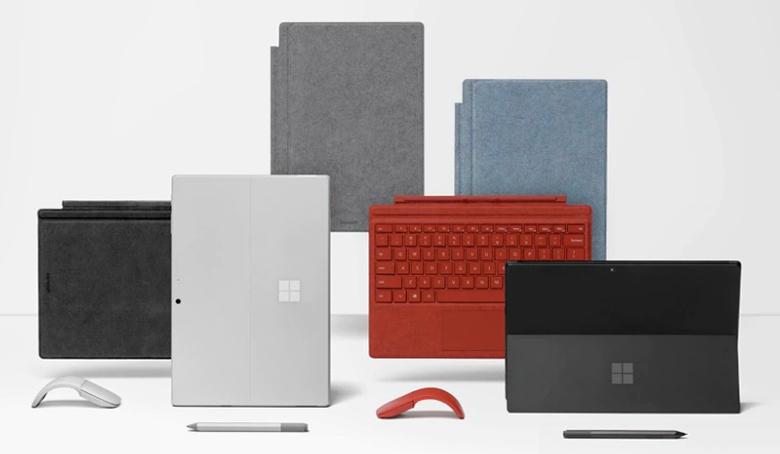 Surface Pro 7 e seus acessórios