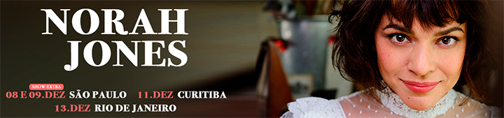Tem Norah Jones aqui no Brasil em Dezembro