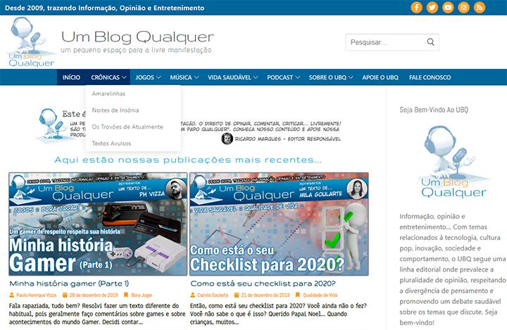 Desde a migração para o WordPress, o UBQ ganhou uma nova identidade visual