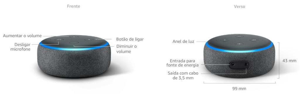 Echo Dot é o dispositivo de entrada da linha Echo