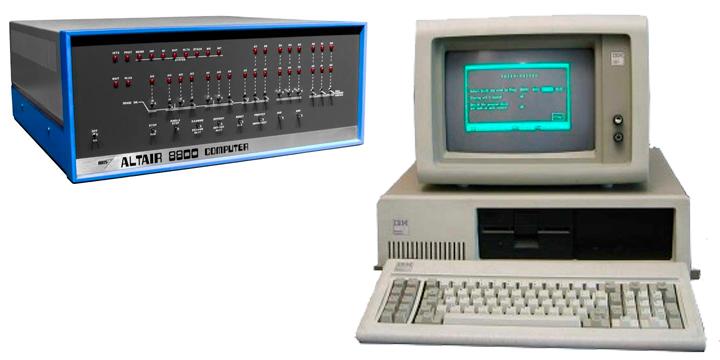 Os LED's do Altair 8800 deram lugar ao monitor de vídeo como interface de comunicação básica