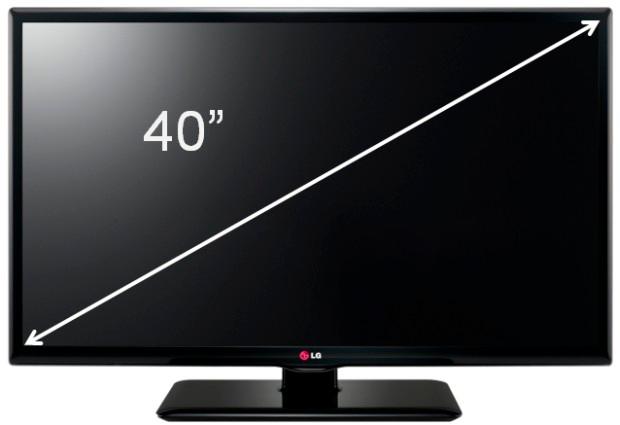 A medida diagonal da tela expressa o parâmetro Tamanho da Tela