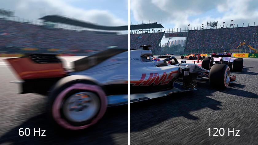 Imagem de um jogo gerada em frequências distintas. Quanto maior melhor.