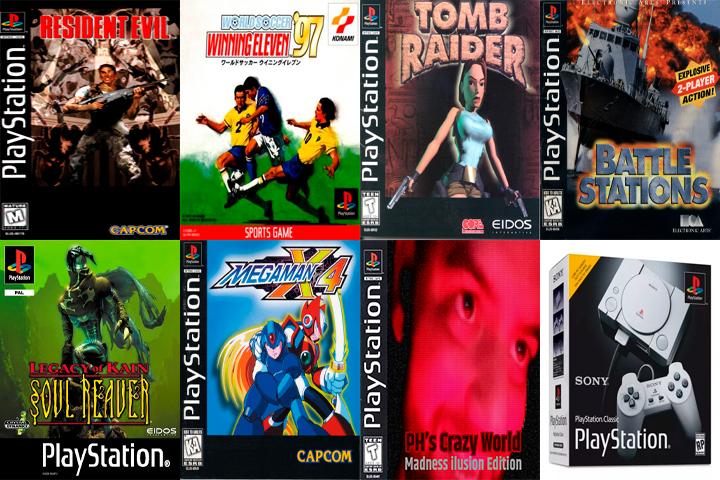 Alguns dos jogos do PS1 que fizeram minha alegria