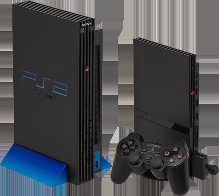 PlayStation 2... nas versões original e slim. Como gamer raiz, tive a versão Fat (original)