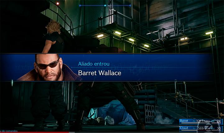 Em certo ponto, Barret entra sob seu controle também
