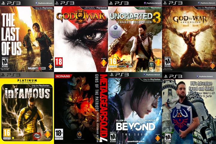Vários jogos exclusivos do PS3 foram devidamente zerados por aqui
