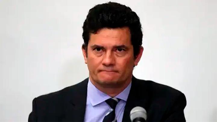 Sérgio Moro, durante seu pronunciamento