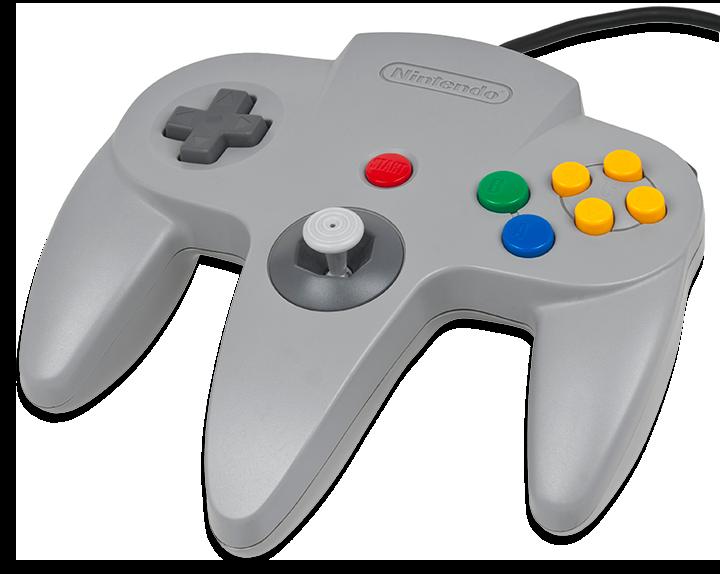 O controle do Nintendo 64 é um show a parte... parece ter sido feito para Goldeneye