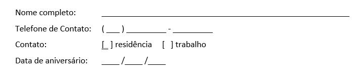 um exemplo de formulário