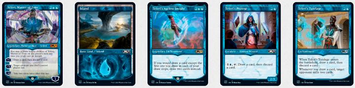 A coleção apresenta alguns cards com frame diferenciado... eis o showcase card frame