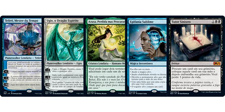 Teferi, Ugin, Azusa, Epifania Sublime e Tutor Sinistro... algumas dos cards que prometem