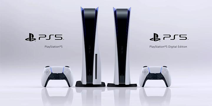 PS5 em sua versão Full e sua versão Digital