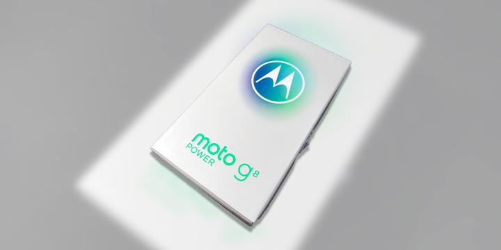 A caixa do Moto G8 Power